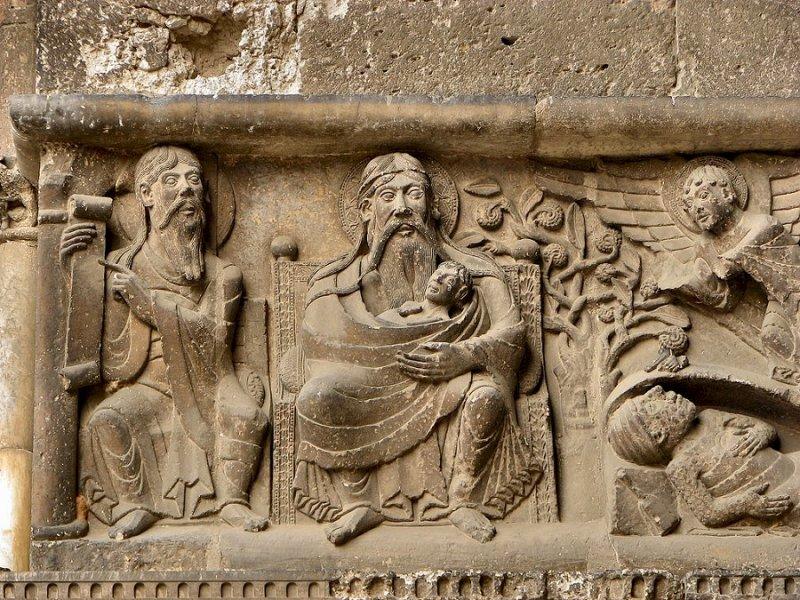 A dúsgazdag és a szegény Lázár (fríz, XI. század, Szt. Péter-apátság, Moissac, Franciaország)