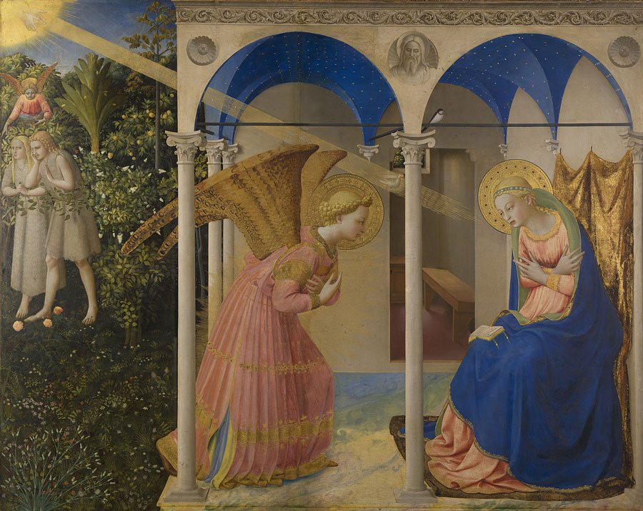 900px La Anunciación by Fra Angelico from Prado in Google Earth main panel