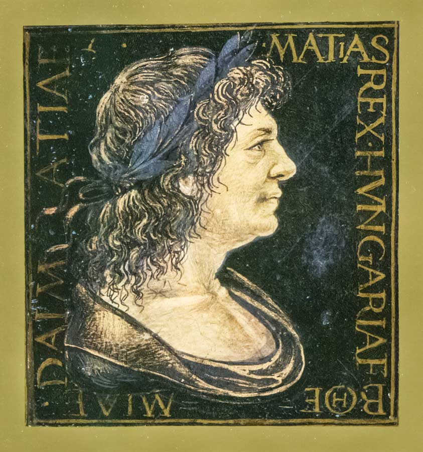 Matthias Corvinus from a Corvina Codex 900